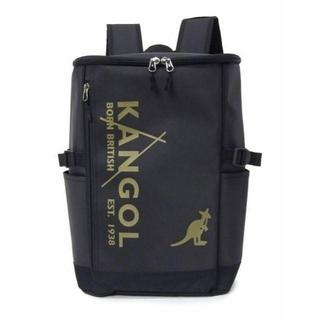 カンゴール(KANGOL)の新品送料無料KANGOL(カンゴール)スクエアリュック ブラック/ゴールド23L(バッグパック/リュック)