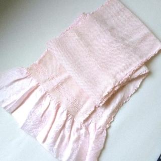 帯揚げ 総絞り ピンク 和装小物 振袖(和装小物)
