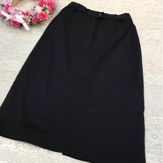 ピンクハウス(PINK HOUSE)のピンクハウス ♡  デニム スカート ♡  ブラック(ひざ丈スカート)