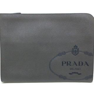 プラダ(PRADA)のプラダ クラッチバッグ美品  - レザー(クラッチバッグ)