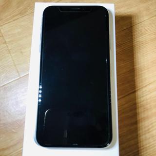 アップル(Apple)のiPhone X Silver 64 GB SIMフリー ジャンク品(スマートフォン本体)