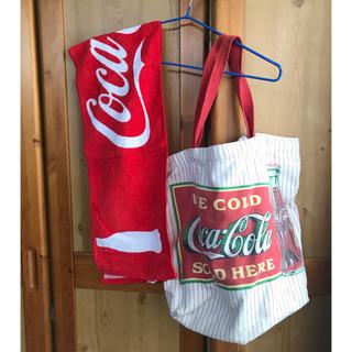 コカコーラ(コカ・コーラ)のCoca-Cola バッグ&タオル(タオル/バス用品)