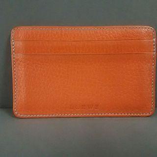 ロエベ(LOEWE)のロエベ カードケース - オレンジ レザー(名刺入れ/定期入れ)