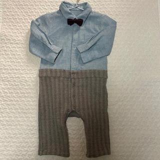 ベビーロンパース セレモニー 結婚式 お誕生日 蝶ネクタイシャツ 記念写真(セレモニードレス/スーツ)