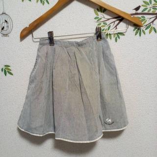 ポンポネット(pom ponette)のused☆ポンポネット ミニスカート130 ☆ストライプ(スカート)