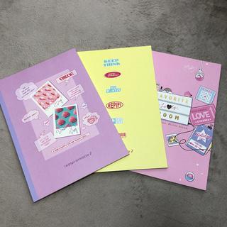 レピピアルマリオ(repipi armario)の可愛いノート 3冊セット(ノート/メモ帳/ふせん)