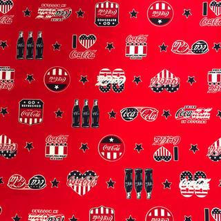 コカコーラ(コカ・コーラ)のコカコーラオックス生地 生地巾×50cm(生地/糸)