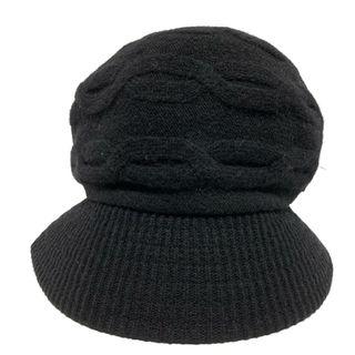 ヴィヴィアンウエストウッド(Vivienne Westwood)のヴィヴィアンウエストウッド ニット帽 黒(ニット帽/ビーニー)