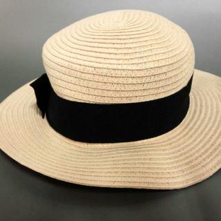 バーニーズニューヨーク(BARNEYS NEW YORK)のバーニーズ 帽子 - アイボリー×黒(その他)