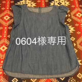 ジーユー(GU)のGUジーユーデニムタンクトップシャツ(シャツ/ブラウス(半袖/袖なし))