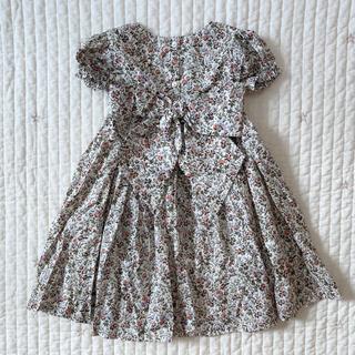 ザラ(ZARA)のリバティミナ バックリボンぽわん袖ワンピース(ファッション雑貨)