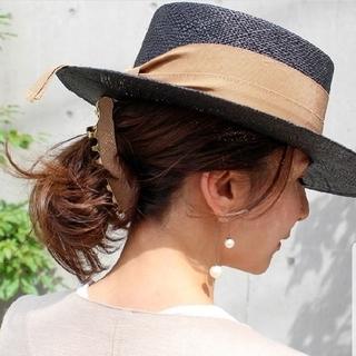ドゥーズィエムクラス(DEUXIEME CLASSE)の希少カラー Chapeaud'O シャポードオー カンカン帽 バオキャノチェ(麦わら帽子/ストローハット)