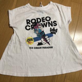 ロデオクラウンズワイドボウル(RODEO CROWNS WIDE BOWL)のRCWB ロデオクラウンズ  キッズ 半袖 Tシャツ ワンピース 120 (Tシャツ/カットソー)