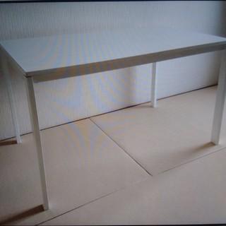 イケア(IKEA)のIKEA メルトープ meltorp ダイニングテーブル 白 ホワイト(ダイニングテーブル)