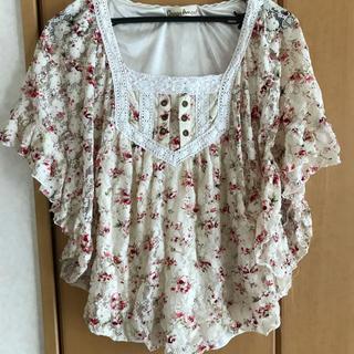 リズリサ(LIZ LISA)の花柄ポンチョ(カットソー(半袖/袖なし))