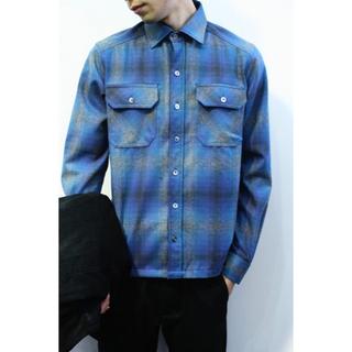 デラックス(DELUXE)のDeluxe Clothing ペンドルトン オンブレ シャツ Blue(シャツ)