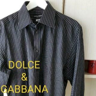 ドルチェアンドガッバーナ(DOLCE&GABBANA)のDOLCE&GABBANAストライプ長袖シャツsize42(シャツ)