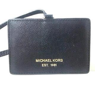 マイケルコース(Michael Kors)のマイケルコース パスケース 黒 レザー(名刺入れ/定期入れ)