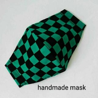 サイズが選べる 市松模様 インナーマスク (外出用品)