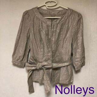 ノーリーズ(NOLLEY'S)のnolleys ラメ入りノーカラージャケット(ノーカラージャケット)