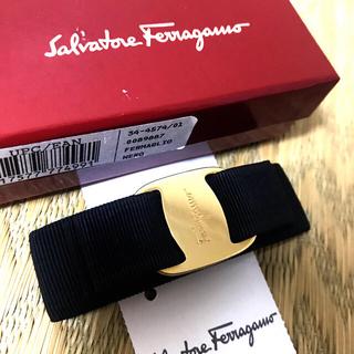 サルヴァトーレフェラガモ(Salvatore Ferragamo)のフェラガモ  バレッタ  ブラック×ゴールド(バレッタ/ヘアクリップ)