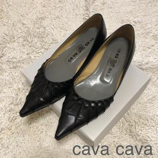 サヴァサヴァ(cavacava)のcava cava パンプス 黒 23.5(ハイヒール/パンプス)