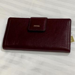 フォッシル(FOSSIL)のかかきさま様専用 FOSSIL 長財布 牛革 紫色(財布)