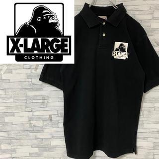 エクストララージ(XLARGE)のエクストララージ ポロシャツ プリントロゴ ブラック L(ポロシャツ)