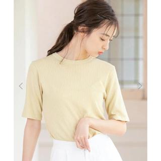 フィフス(fifth)のクルーネックコンパクトサマーニット fifth(Tシャツ/カットソー(半袖/袖なし))