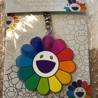 Flower Rubber Keyring ClearRainbow&White(その他)