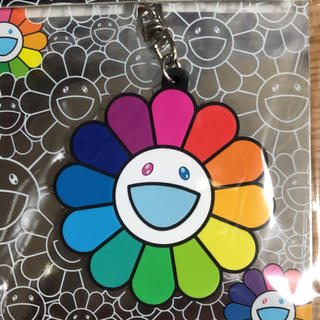 Flower Rubber Keyring Rainbow&White(その他)