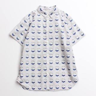 アイアムアイ(I am I)のI AM I アイアムアイ タイプライターミルクチェック半袖シャツ(シャツ/ブラウス(半袖/袖なし))
