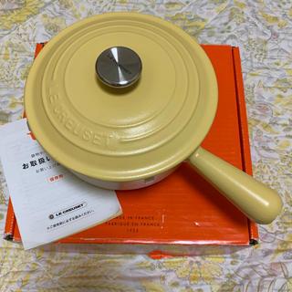 ルクルーゼ(LE CREUSET)のルクルーゼ ソースパン ミモザ 18cm 廃盤 レア 片手鍋 スープパン(鍋/フライパン)