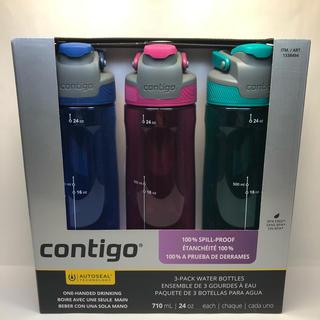 コストコ(コストコ)のcontigo コンティゴ ウォーターボトル 水筒 3本セット(食器)