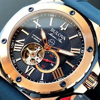 ブローバ(Bulova)の【新品☆即納】ブローバ マリンスター 自動巻き メンズ 腕時計 オープンハート(腕時計(アナログ))