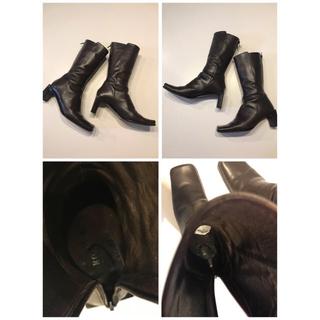 ロペ(ROPE)の【ROPE】イタリア製 革製ブラウンロングブーツ(ブーツ)