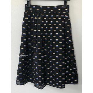 アベニールエトワール(Aveniretoile)の美品⭐︎アベニールエトワール Dutel社ジャガードスカート 36(ひざ丈スカート)