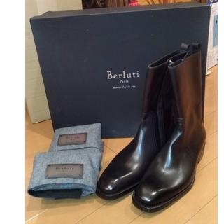 ベルルッティ(Berluti)のBerluti ベルルッティLeonard レオナルド サイドジップブーツ黒(ブーツ)