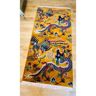 ACTUS - チベタンラグ 龍 孔雀 ドラゴン ウール絨毯