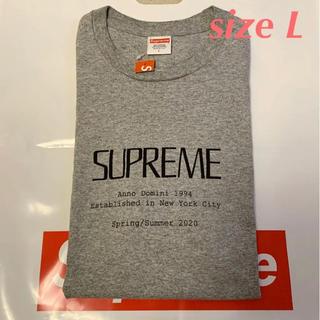 シュプリーム(Supreme)の【 Lサイズ】supreme Anno Domini Tee(Tシャツ/カットソー(半袖/袖なし))
