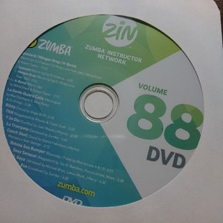 ズンバ(Zumba)のZUMBA DVD ZIN88 ズンバ(ダンス/バレエ)