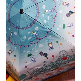 スヌーピー(SNOOPY)のスヌーピー 折りたたみ傘  晴雨兼用折り畳み傘 シルバーコーティング(傘)