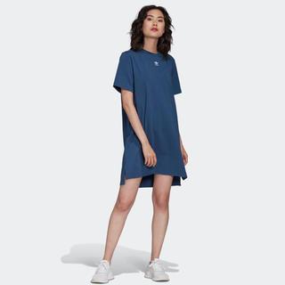 アディダス(adidas)のトレフォイル ワンピース ナイトマリン Tシャツ もうすぐ終わり(ロングワンピース/マキシワンピース)