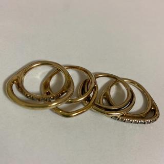 イオッセリアーニ(IOSSELLIANI)のイオッセリアーニ 4連 4本 リング ゴールド 変形 たぶん 10号(リング(指輪))