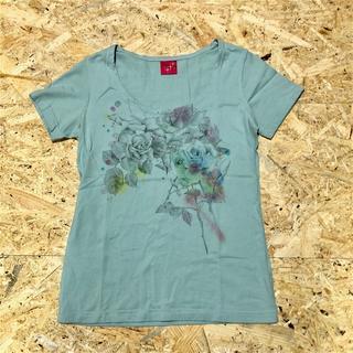 フェリシモ(FELISSIMO)の美品 フェリシモ Tシャツ M グリーン レディース HY23(Tシャツ(半袖/袖なし))