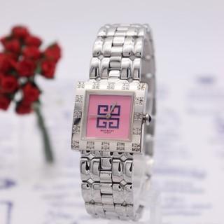ジバンシィ(GIVENCHY)の正規品【新品電池】GIVENCHY/ズッカ柄 ピンク 超美品 動作品(腕時計)