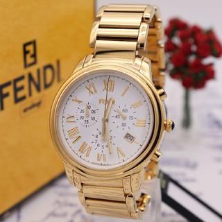フェンディ(FENDI)の付属品完備【新品電池】FENDI 25200G/未使用品 オールゴールド 動作品(腕時計(アナログ))