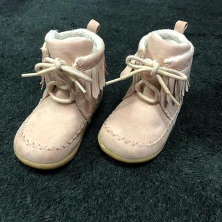 エイチアンドエム(H&M)のH&M フリンジムートンブーツ(ベビー)size20/21(ブーツ)