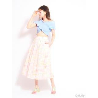 リルリリー(lilLilly)の未使用未着 lilLilly リルリリー オリジナルアロハフレアスカート2018(ロングスカート)