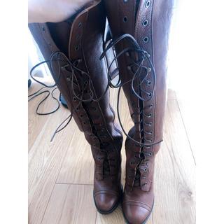 グレースコンチネンタル(GRACE CONTINENTAL)のグレースコンチネンタル 編み上げブーツ(ブーツ)